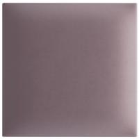 Panou decorativ tapitat, patrat, stofa, roz pudra, 30 x 30 cm, 30 mm
