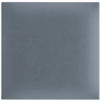 Panou decorativ tapitat, patrat, stofa, albastru marin, 30 x 30 cm, 30 mm