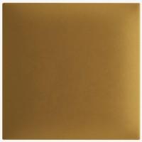 Panou decorativ tapitat, patrat, stofa, mustar, 30 x 30 cm, 30 mm