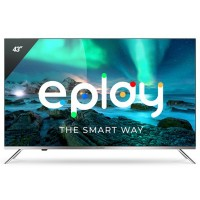 Televizor LED Smart Allview 43ePlay6100-U, diagonala 108 cm, Ultra HD / 4K, sistem operare Android TV 9.0, negru + argintiu