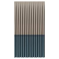 Draperie Kreas, V2, poliester, crem + albastru, opac, H 305 cm