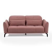 Canapea fixa 3 locuri Page, roz, 188 x 120 x 98 cm, 1C