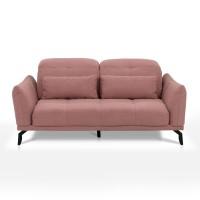 Canapea fixa 2.5 locuri Page, roz, 178 x 120 x 98 cm, 1C