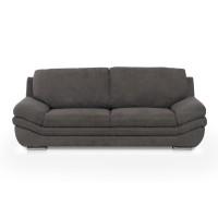 Canapea fixa 3 locuri Nardo, gri inchis, 228 x 99 x 91 cm, 1C
