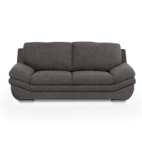 Canapea fixa 2 locuri Nardo, gri inchis, 203 x 99 x 91 cm, 1C