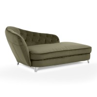 Fotoliu fix 2 locuri Retro, tip divan, pe dreapta, stofa, verde, 1C