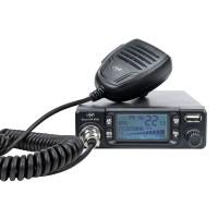 Statie radio auto CB PNI Escort HP 9700, 4 W, alimentare 12 V / 24 V, banda emisie AM / FM, port USB, ASQ reglabil, scanare canale, RF Gain, blocare tastatura, filtru zgomot ANC, ecran LCD albastru, microfon cu 6 pini