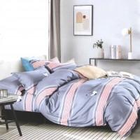 Lenjerie de pat 1305, 2 persoane, microfibra 100 %, imprimeu, 4 piese