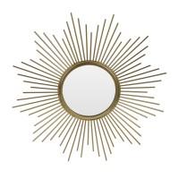 Oglinda decorativa HZ2001340, rama metalica, auriu, 32.5 cm
