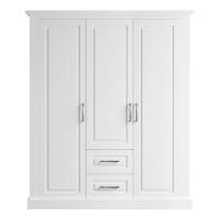 Dulap dormitor Roma, alb mat, 3 usi, 165 x 62 x 200 cm, 4C