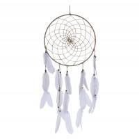 Decoratiune Dream Catcher HZ1905910, Koopman, iuta + pene, 33 x 5 x 90 cm