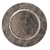 Platou decorativ, 3791, polirasina, finisaj antichizat, 33 x 1.5 cm
