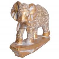 Decoratiune elefant, 5783, metal, auriu, 18.8 x 10.5 x 15.5 cm