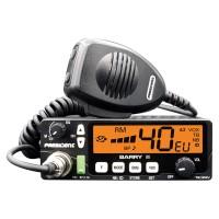 Statie radio auto CB President Barry II, 4 W, alimentare 12 V / 24 V, banda emisie AM / FM, port USB, ASQ reglabil, Roger Beep, Noise Blanker, Automatic Noise Limiter, ecran multicolor, VOX, functie Compander, automatic SWR