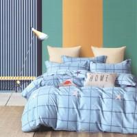 Lenjerie de pat A1 270721, 2 persoane, bumbac 100 %, imprimeu, 3 piese