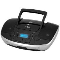 Radio FM portabil Akai APRC-108, CD / CD-R / CD-RW player, 6 W, alimentare retea sau baterii, Bluetooth, USB, Aux in, PLL tuning, display LED, antena FM telescopica, negru