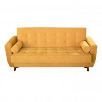 Canapea extensibila 3 locuri Julia, cu lada, galbena, 225 x 80 x 86 cm, 1C