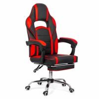 Scaun birou gaming OFF 302, rotativ, imitatie piele, negru + rosu, 1C