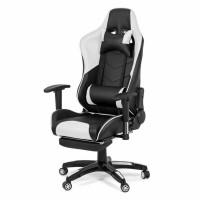 Scaun birou gaming OFF 306, rotativ, imitatie piele, negru + alb, 1C