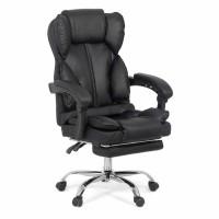 Scaun birou directorial OFF 415, rotativ, imitatie piele, negru, 1C