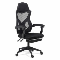 Scaun birou gaming OFF 424, rotativ, mesh, negru, 1C