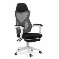 Scaun birou gaming OFF 424, rotativ, mesh, alb + negru, 1C