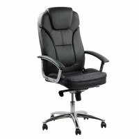 Scaun birou directorial OFF 5850, rotativ, imitatie piele, negru, 1C