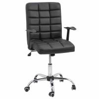 Scaun birou directorial OFF 603, rotativ, imitatie piele, negru, 1C