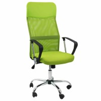 Scaun birou ergonomic OFF 907, rotativ, mesh, verde, 1C