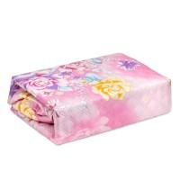 Cuvertura pentru pat 3D, microfibra, roz, 210 x 230 cm