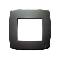 Rama Esperia 300554-08, 2 module, gri sablat, pentru priza / intrerupator