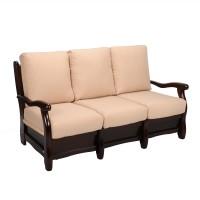 Canapea fixa 3 locuri Bari Classic, crem + maro, 91 x 160 x 90 cm 1C