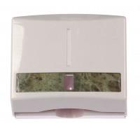 Dispenser hartie, 1086-1, alb + verde, plastic ABS