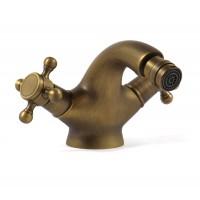 Baterie baie pentru bideu Kadda Bronze BMY1107-9, cu ventil, dubla comanda, finisaj bronz