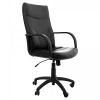 Scaun birou directorial Meriva, rotativ, imitatie piele, negru