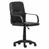 Scaun birou directorial Pluto, rotativ, PVC, negru