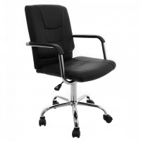 Scaun birou directorial US31/ERA, rotativ, PVC, negru