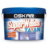 Vopsea lavabila interior, Oskar Superweiss Tavan, alba, 2.5 L