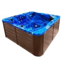 Jacuzzi exterior, West Soft, albastru + maro, cromoterapie, 200 x 200 x 90 cm