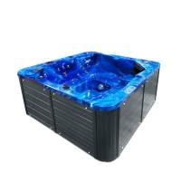Jacuzzi exterior, West Soft, albastru + gri, cromoterapie, 200 x 200 x 90 cm