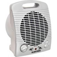 Aeroterma electrica Albastros AC-22A3 2000 W, termostat reglabil, 2 trepte, protectie supraincalzire