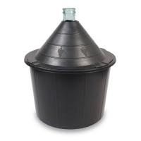 Damigeana sticla, cu invelis protector din plastic, 54 litri