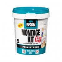 Adeziv pentru placi si profile decorative din polistiren, interior, Bison Montage Kit, alb, 1 kg