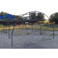 Structura solariu pentru gradina, metalica, 2.9 m x 10 m x 2.2 m