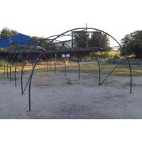 Structura solariu pentru gradina, metalica, 4 m x 10 mxx 2.6 m
