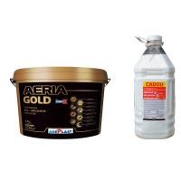 Vopsea lavabila interior, Adeplast Aeria Gold, alba, 15 L + amorsa 4 L