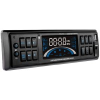 Radio MP3 player auto Akai CA012A-1605U, 4 x 7 W, 1 DIN, USB, SD / MMC, AUX in, afisaj cu Power Level Meter