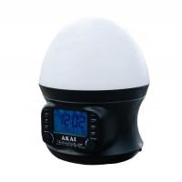 Radio FM/AM Akai AR321S, cu ceas, lampa birou, alimentare retea / baterii, functie snooze, numaratoare inversa, termometru