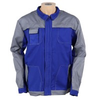 Jacheta de lucru Asimo, poliester si bumbac, albastra, cu buzunare, marimea 48