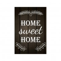 Tablou, Home sweet home, canvas + sasiu brad, 60 x 45 cm